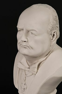 Sir Winston Churchill Bust, Carrara Marble Sculpture, Home decor, Gift, Ornament