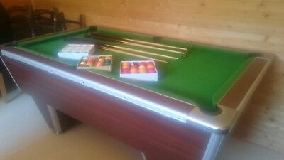 Slate bed pool table 6ft