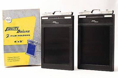 @ Shipped in 24 Hours! @ Fidelity Deluxe 2 Cut Film Holders 4x5 Large Format