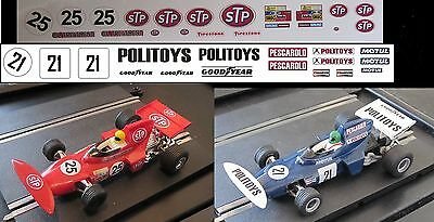Scalextric Decals / Transfers for March 711 C026 - 2 Variations