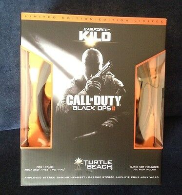 Call Of Duty BO2 - Cuffie Ear Force Kilo -Limited Ed. - Ps3/Ps4/pc/mac/xbox360