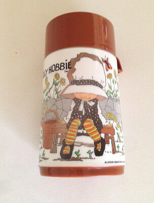 Vintage 1972 Holly Hobbie Brown Cup Aladdin Plastic-Thermos Flask L4G3L4 Rare