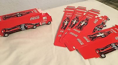 Coca-Cola Coke Truck Coin Bank, Cardboard Promotional, Lot of 5