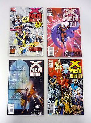 X-MEN UNLIMITED #1 2 3 5 Marvel Comic Book Lot of 4 NM-NM+ 1993-1994