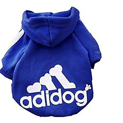 Winter Dog Clothes Casual Adidog Pets Warm Hoodie Coat Jacket Clothing Dogs S