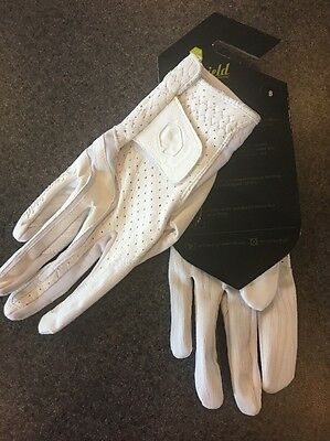 Samshield V-skin Vented Leather Gloves -white - Size 8 - New With Tags