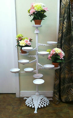 Antique Victorian Cast Iron Plant Stand - Oil Lamp Stand