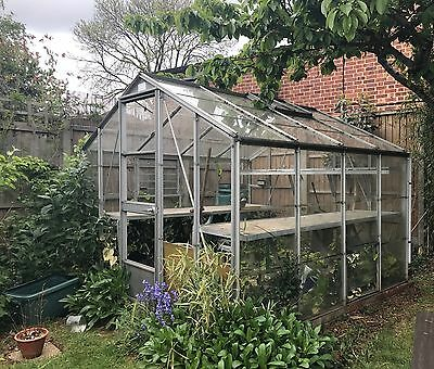 Top Quality Large Aluminium & Glass 8 Foot X 8 Foot Greenhouse