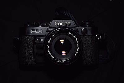 Konica FC-1 35mm SLR Camera Body with 50mm f/1.8 lens, great for film students!