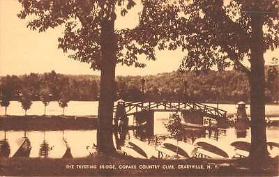 Craryville New York Copake Country Club Trysting Bridge Antique Postcard K66647