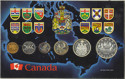 Canada 1963 Proof Like Set of Canadian Coinage Silver 1.1 OZ Housed in Holder