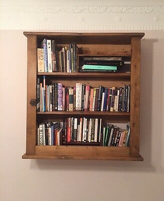 Antique Wall Mounted bookcase / cupboard