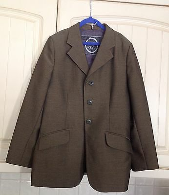 "Saddlecraft Boys/girls Lightweight Brown Tweed Show Jacket Teens Size 32""  £30"
