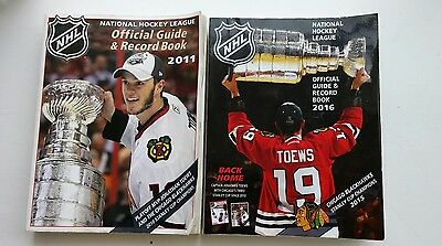 NHL Official Guide & Record Book - Jonathan Toews - 2011 & 2016