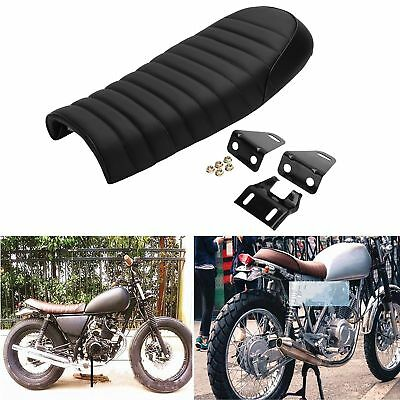 Motorcycle Black Flat Tracker Locomotive Hump Cafe Racer Seat Honda CB CL Retro