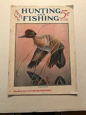 Vintage Issue of Hunting and Fishing Magazine September 1930
