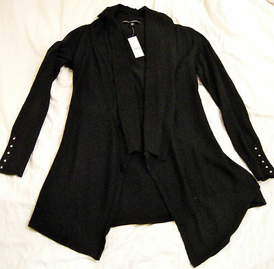 White House Black Market NEW WITH TAG Black Cardigan/Sweater Jacket, Small