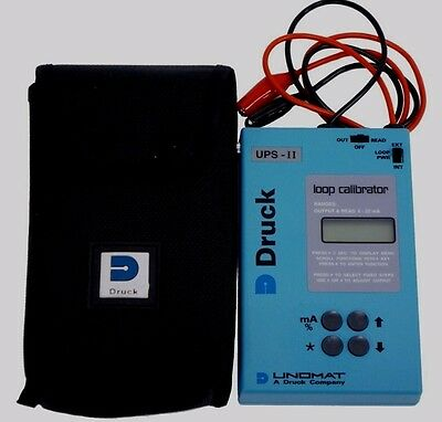 Druck UPS-II Current Loop Calibrator with Test Leads and Case.