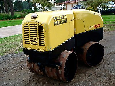 Wacker Neuson RT80 Articulated Padfoot Compaction Roller with Remote Control