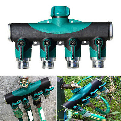 BG285 Garden Hose 4 Way Splitter Water Pipe US standard Connector 3/4 Inch