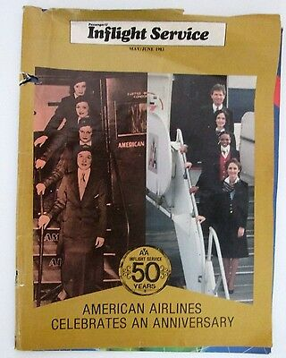 Vintage American Airlines Celebration 50 Years of Inflight Stewardess/FA 54 pgs