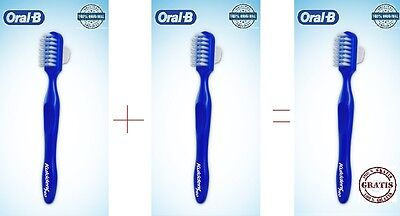 3 Multi Cepillo Manual Oral-B Protesis Dental/dentadura Postiza. Limpia Ferula
