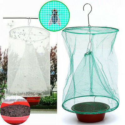 BG36 Gardening Drosophila Fly Trap Net Reusable Insect Catcher Killer Cage