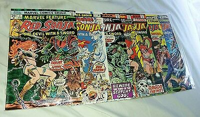 marvel feature red sonja 7 issue bronze age comic set lot movie collection conan