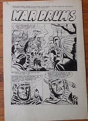 "Warpath Comics: Complete 6 page Story ""War Drums""  Original Artwork"