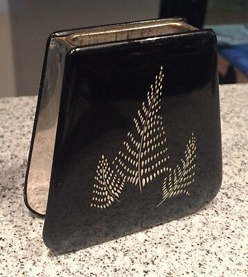 Vintage 1940s Colibri Kreisler Art Deco Table Lighter Base Only Silver Fern