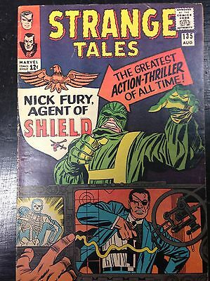 Strange Tales #135 (Aug 1965, Marvel) 1st App. Col.Nick Fury of Shield