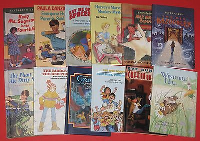 Lot of 12 Children's Hardback CHAPTER BOOKS Reading Levels Vary Most are 3-4 EUC