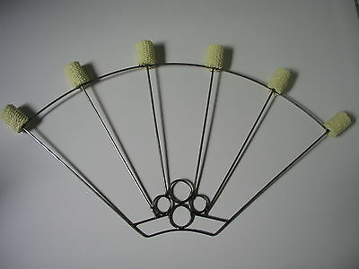 Pair of  fire fans - 6 heads fans made from steel and Kevlar - Poi