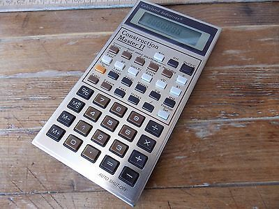Construction Master II Vintage Contractor's Calculator Calculated Industries