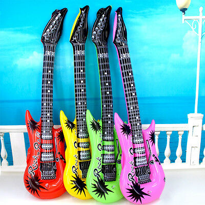 """Inflatable Guitar Rock Roll 20"""" Wedding Party Favors Bulk Night out KARAOKE"""