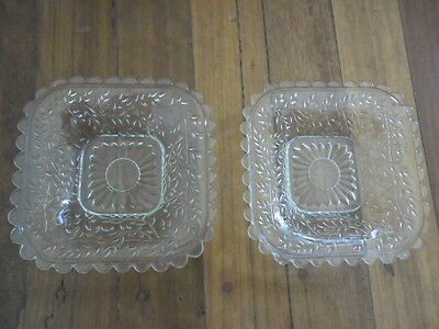 Depression Glass Butter/jam Dishes X 2