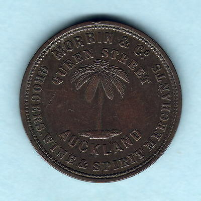 New Zealand - Token. Morrin Penny.  Auckland..  VF