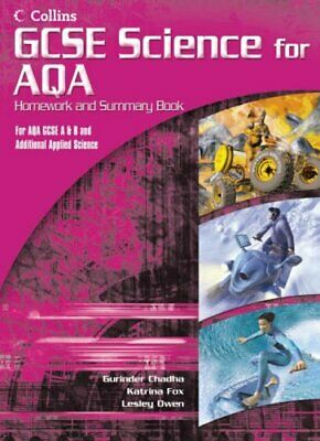 GCSE Science for AQA - Science Summary and Homework Book (Additiona... Paperback