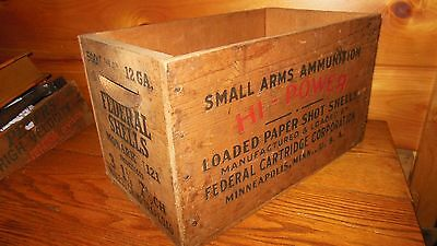 Vintage Wooden Federal Shell Box / 12 GA. Monark Shells / QUALITY BOX