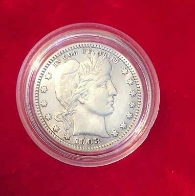 1908-D Silver Barber Quarter In Top Condition!!!