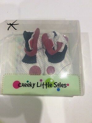 Cheeky Little Soles BNIB baby shoes size small (0-6months)