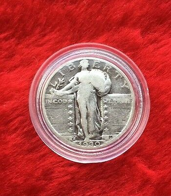 1930-S Silver Standing Liberty Quarter In Great Condition!!