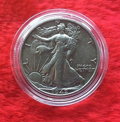 1942-S Silver Walking Liberty Half Dollar In Top Condition!!