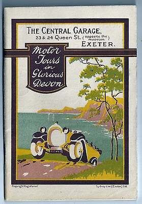 Motor Tours in Glorious Devon - Central Garage, Exeter - tour book, 1930s