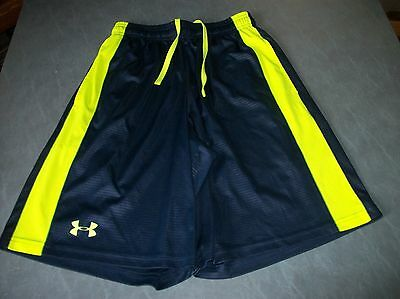 Under Armour Blue And Yellow Shorts Sm/p