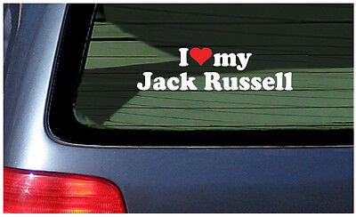 I Love My Jack Russell Sticker Vinyl Decal Car Window dog puppy