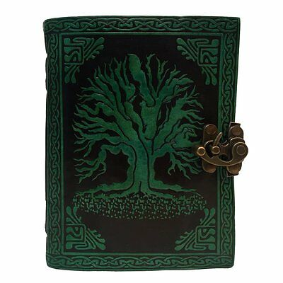 Vintage Leather Bazaar Leather Journal Tree of Life Journal Leather With C-Lock