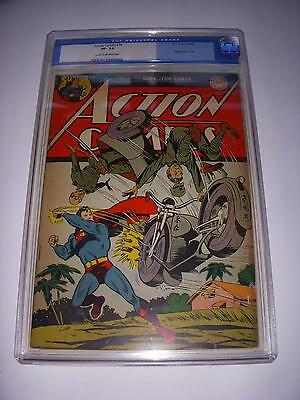 Action Comics #76  Cgc 7.5 Vf- Nice Japanese Wwii Cover  Dc 1944