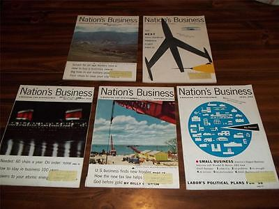 1953,1954 Nation's Business Magazine 5 Issues, Complete All Pages  And Ads