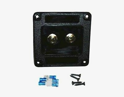 Guitar Cab Input Jack Plate Assembly Marshall, Mesa, Ampeg + Hardware Kit
